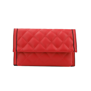 Handbag Republic Quilt Stitch Leather Clutch Wallet Red