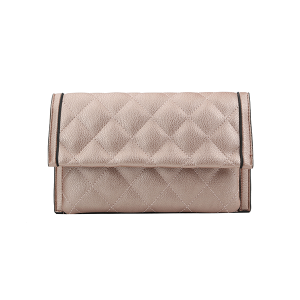 Handbag Republic Quilt Stitch Leather Clutch Wallet Rose Gold