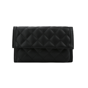 Handbag Republic Quilt Stitch Leather Clutch Wallet Black