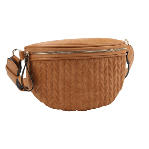 handbag republic CTJY-0017 waist pack quilted brown