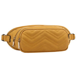 handbag republic CTJY-0018 waist pack chevron yellow