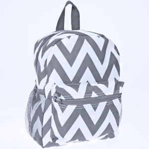 luggage 6012 youth backpack chevron gray