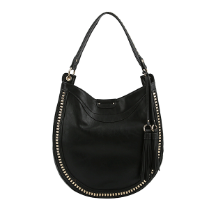 Handbag Republic D 0407 western tassel hobo black