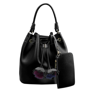 handbag republic D-0430 hobo 3 in 1 black