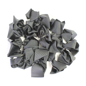 12 pack Bow set clip black colored hairclips