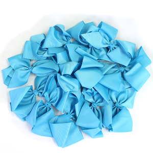 12 pack Bow set clip blue colored hairclips