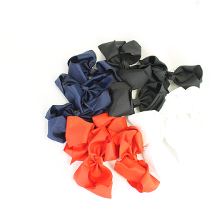 12 pack Bow set clip multi-colored hairclips