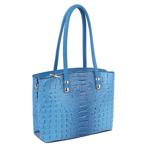 Handbag Republic DX-0108 croc top handle satchel blue