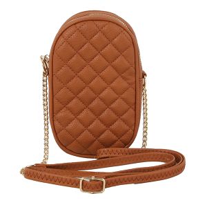 Handbag Republic DXSF-0120 oval fashion quilted crossbody brown