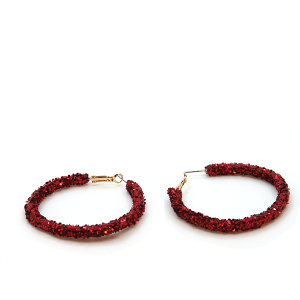 Earring 730i 50 It's sense red hoop earring