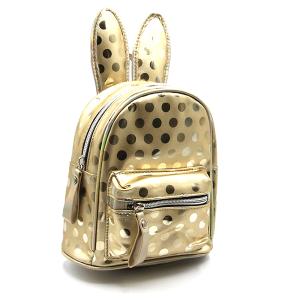 backpack EBP-1165 mini backpack polka dot bunny ears gold