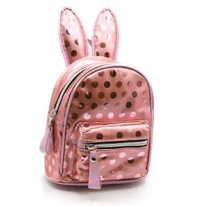 backpack EBP-1165 mini backpack polka dot bunny ears pink