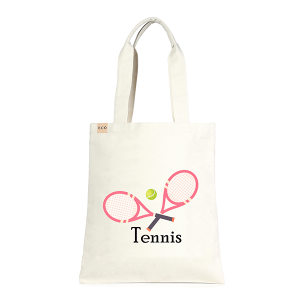 LOF ECO-232 shopping tote tennis pink beige