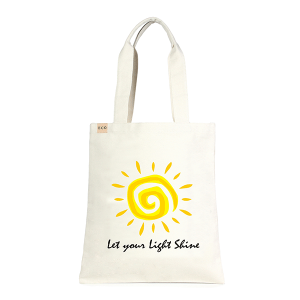LOF ECO-233 shopping tote Let Your Light Shine beige