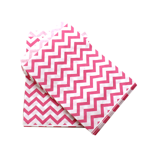 display 5x7 jewelry paper bag chevron pink