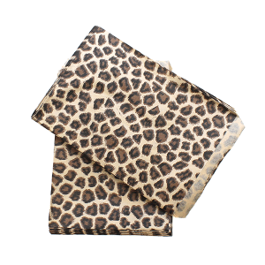 display 5x7 jewelry paper bag leopard brown