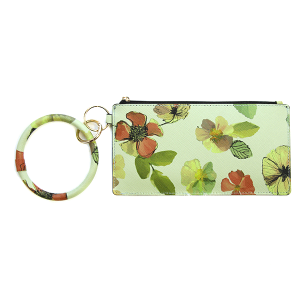 Wallet FK0187 Tell Your Tale wrist zip wallet floral green