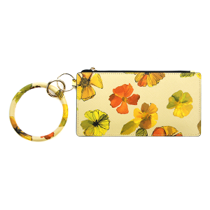 Wallet FK0187 Tell Your Tale wrist zip wallet floral yellow