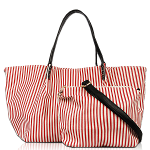 Vieta FL 1622 Ivanna shoulder tote stripe red