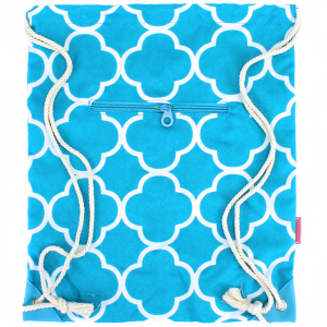 luggage 1014 sling bag quatrefoil turquoise