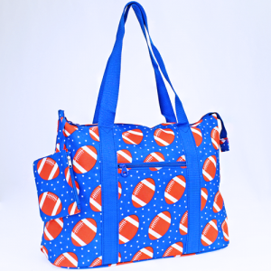 luggage 4418 tote football royal blue