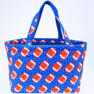 luggage 4821 large grocery/utility tote football royal blue