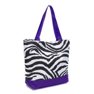 Luggage H18 2007 AK tote zebra purple