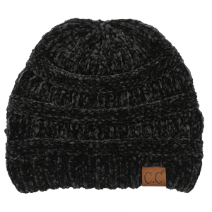 Winter CC Beanie 101e 82 soft chenille black