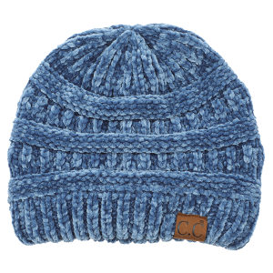 Winter CC Beanie 038b 82 soft chenille dark denim