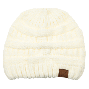 Winter CC Beanie 012f 82 soft chenille ivory