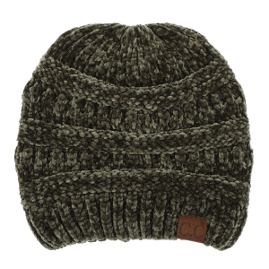 Winter CC Beanie 120a 82 soft chenille new olive green