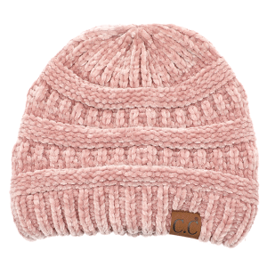 Winter CC Beanie 126d 82 soft chenille rose