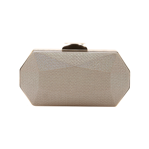 Nima HBG102729 evening bag geometric hard case champagne