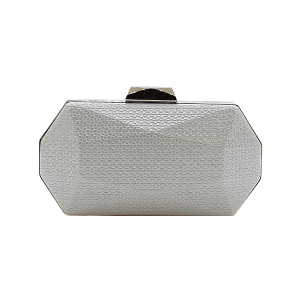 Nima HBG102729 evening bag geometric hard case silver