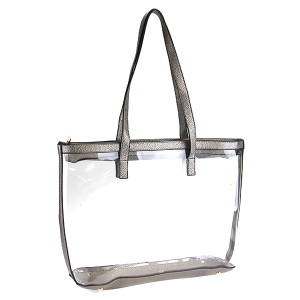 Nima HBG 102752 transparent clear tote bronze