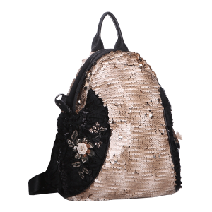 Nima HBG102795 floral sequin backpack beige