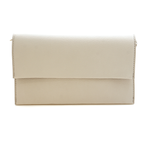 Nima HBG 102924 fold over clutch beige