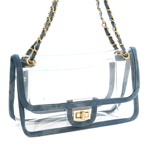 Nima HBG 102971 shoulder bag transparent denim
