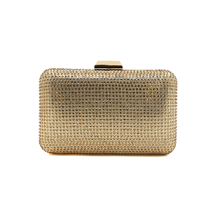 Nima HBG103002 evening bag hard case crystal gold