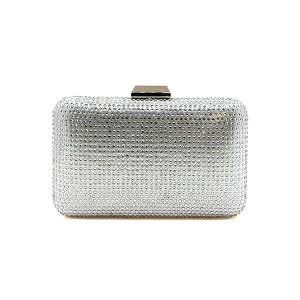 Nima HBG103002 evening bag hard case crystal silver