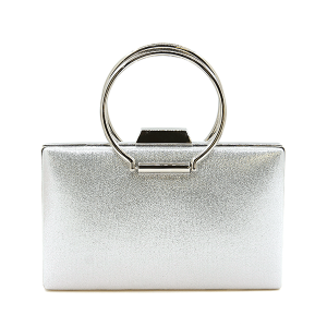 Nima HBG103078 evening bag round handle silver