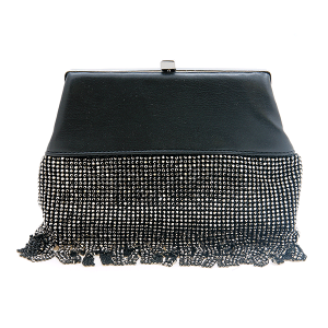 Nima HBG 103108 evening bag clutch fringe black