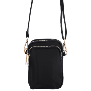 Nima HBG103225 3 compartment nylon crossbody black
