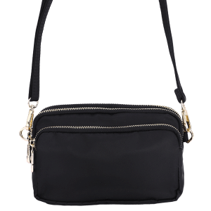 Nima HBG103226 3 compartment nylon crossbody black
