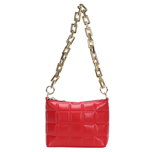 Nima HBG103585 quilted fashion shoulder bag crossbody red
