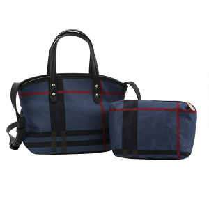 Handbag Republic HG-0076 2in1 plaid satchel MT4 blue