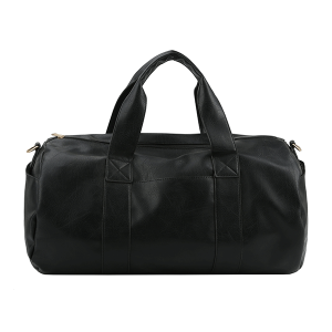 Handbag Republic HG-0099 vegan leather weekend duffel black