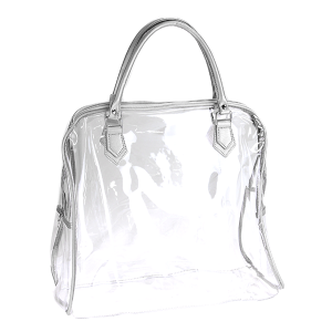 Nima HL 00369 transparent clear shoulder bag silver