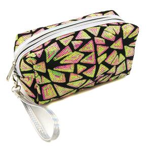 Nima HM00468 cosmetic pouch geometric sequin purple