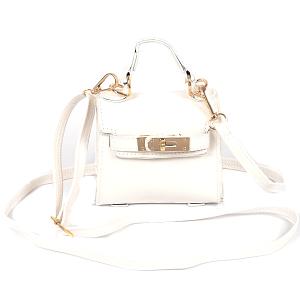3AM HMC1098 single handle crossbody mini bag white